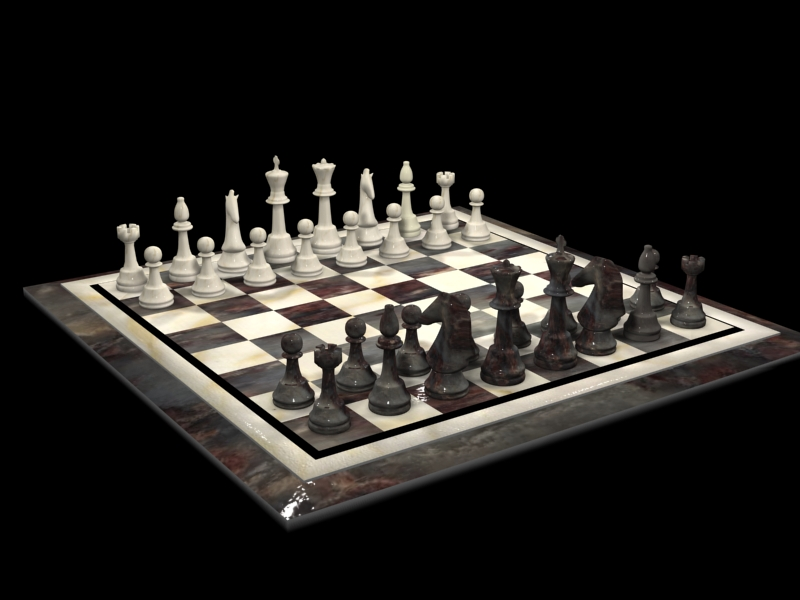 3D Rendering of Chess Set