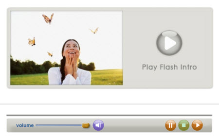 Custom Flash Video Player Interface