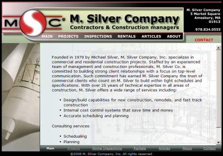 MSilver company website