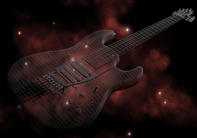 3D Rendering of Guitar
